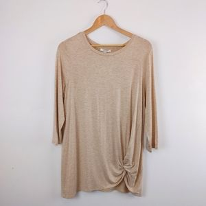 89th + Madison | Mid Sleeve Top with Front Knot
